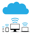 cloud computers vector image vector image