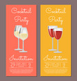 cocktail party invitation posters date and time vector image