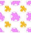 colorful seamless pattern of cute pink and yellow vector image vector image