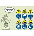 Construction health and safety vector image vector image