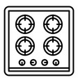 cooking stove icon outline style vector image
