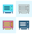 countertop steamer icon set in flat and line vector image vector image