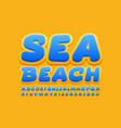 creative banner sea beach with holiday font vector image