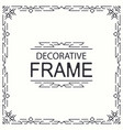 decorative frame geometric line vector image vector image