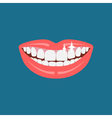 Dentist smile icon vector image vector image