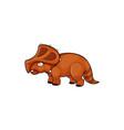 dinosaur extinct animal isolated cartoon dino icon vector image vector image