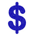Dollar icon grunge watermark vector image