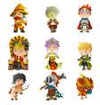 fantasy avatar icons vector image