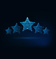 five stars rating luxury service client vector image vector image