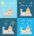 flat design cathedral florence italy vector image vector image