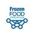 frozen food premium abstract label for freezing vector image