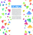 Gemstone Seamless Pattern for Presentation vector image vector image