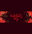 happy saint valentines day brush pen lettering vector image vector image
