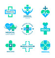 health symbols medical signs for logo clinic vector image vector image