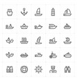 icon set - boat and ship vector image vector image