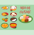 indian chicken jalfrezi with rice and vegetable vector image