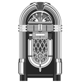 Jukebox - automated retro music-playing machine vector image