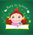 little girl for back to school vector image vector image