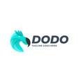 logo head dodo gradient colorful vector image