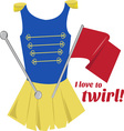 Love to Twirl vector image vector image