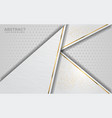 luxurious modern abstract white with golden lines vector image vector image