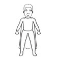 male superhero cartoon character sketch vector image