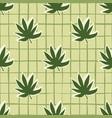 marijuana green leaves seamless pattern pastel vector image vector image