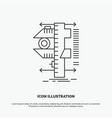 measure caliper calipers physics measurement icon vector image