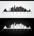 melbourne skyline and landmarks silhouette vector image vector image