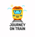 minimalistic posters of journey by train vector image vector image