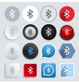 modern bluetooth icons set vector image vector image
