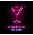Neon sign Cocktail vector image vector image