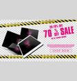 new arrival sale market advertising design vector image vector image