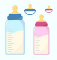 nutrition container for a newborn nipple set vector image vector image