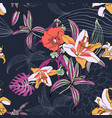 original trendy seamless artistic flower pattern vector image vector image
