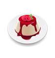 Panna cotta isolated on white vector image