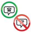 Phone message permission signs set vector image vector image