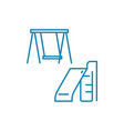 playground linear icon concept playground line vector image