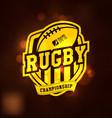 rugchampionship logo sport vector image vector image