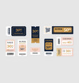 sale vouchers coupon mockup design for sale and vector image vector image