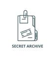secret archive line icon linear concept vector image