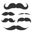 set cute mustache vector image