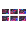 set of liquid shapes gradient abstract vector image vector image