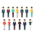 Set of Man Characters Template vector image