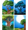 set of nature scene vector image vector image
