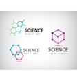 set of science logos biology physics vector image