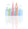 skyline landmark world architecture urban city vector image
