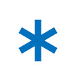 snowflake sign blue snowflake icon isolated on vector image