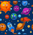 solar system planets sun in galaxy cosmos vector image