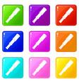 spyglass icons 9 set vector image vector image